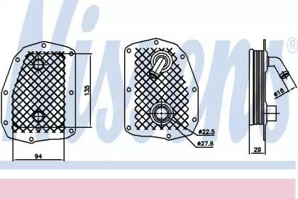Масляний радіатор на Мерседес Г Клас  NISSENS 90734.