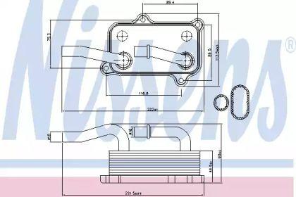 Масляний радіатор на Мерседес W211 NISSENS 90599.