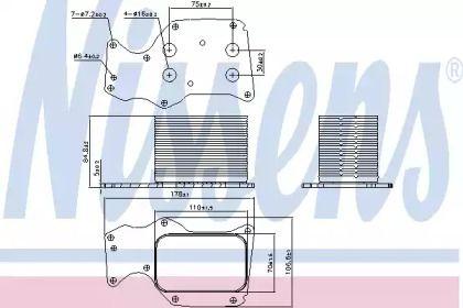 Масляный радиатор 'NISSENS 90906'.
