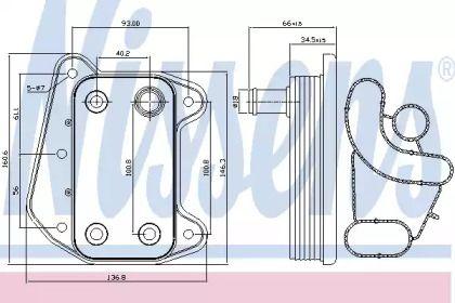 Масляний радіатор на Mercedes-Benz W211 NISSENS 90622.