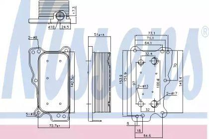 Масляний радіатор на Mercedes-Benz W211 NISSENS 90783.