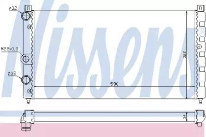 Алюмінієвий радіатор охолодження двигуна на Шкода Феліція 'NISSENS 64065'.