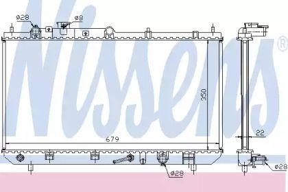 Радіатор охолодження двигуна на Мазда Премаси NISSENS 625081.