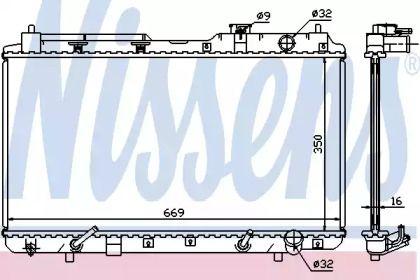 Радиатор охлаждения двигателя на Хонда ЦРВ 'NISSENS 681021'.