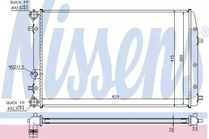 Радіатор охолодження двигуна на Шкода Румстер 'NISSENS 652711'.