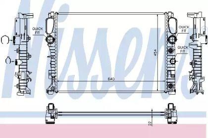 Алюмінієвий радіатор охолодження двигуна на Мерседес W211 NISSENS 62792A.