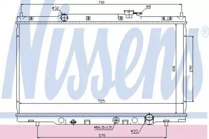 Алюминиевый радиатор охлаждения двигателя на HONDA CR-V 'NISSENS 68103'.