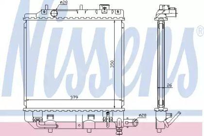 Алюмінієвий радіатор охолодження двигуна на Мазда Деміо NISSENS 62459.