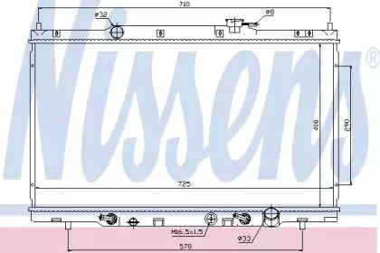Радиатор охлаждения двигателя на HONDA CR-V 'NISSENS 68106'.