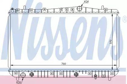 Алюмінієвий радіатор охолодження двигуна 'NISSENS 61634'.