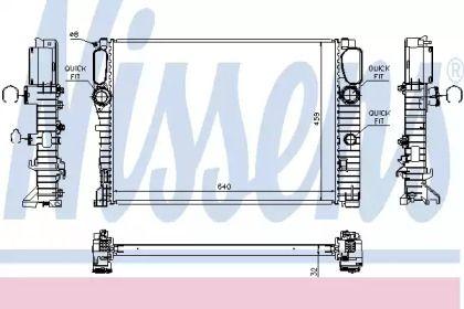 Радіатор охолодження двигуна на Mercedes-Benz W211 NISSENS 67102A.