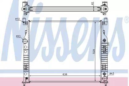 Радіатор охолодження двигуна на Мерседес Гл Клас  NISSENS 62577A.