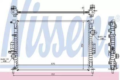 Радиатор охлаждения двигателя NISSENS 66857.