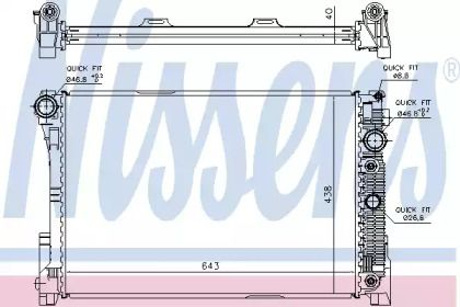 Радіатор охолодження двигуна на Mercedes-Benz GLK  NISSENS 67162.