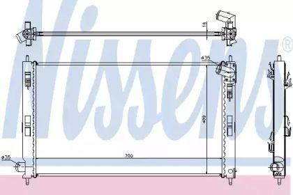 Радіатор охолодження двигуна на Мітсубісі АСХ 'NISSENS 628952'.