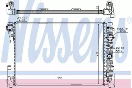 Радіатор охолодження двигуна на Мерседес ГЛК  NISSENS 67168.