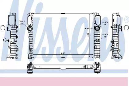 Радіатор охолодження двигуна на Мерседес W211 NISSENS 67105.