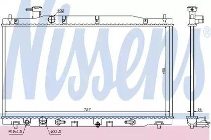 Радиатор охлаждения двигателя на HONDA CR-V 'NISSENS 68139'.