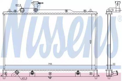 Радіатор охолодження двигуна на MAZDA CX-7 NISSENS 68524.