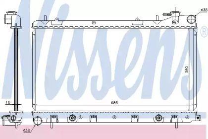 Радіатор охолодження двигуна NISSENS 67728.