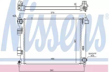 Радиатор охлаждения двигателя NISSENS 67616.