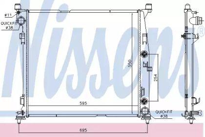 Радіатор охолодження двигуна на Мерседес Гл Клас  NISSENS 67188.