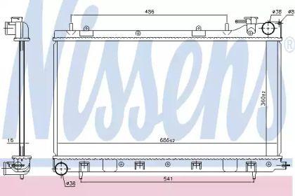 Радіатор охолодження двигуна NISSENS 64122.