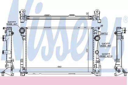 Радіатор охолодження двигуна на Мерседес W212 NISSENS 627012.