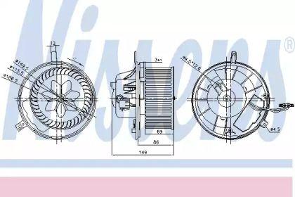 Вентилятор печки на Сеат Альтеа NISSENS 87032.