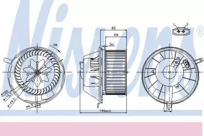Вентилятор печки на Сеат Альтеа NISSENS 87034.