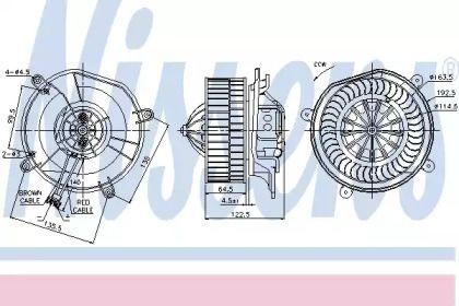 Вентилятор пічки на Мерседес W211 NISSENS 87103.