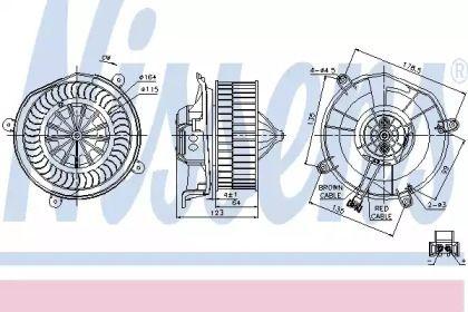 Вентилятор пічки на Мерседес W211 NISSENS 87104.
