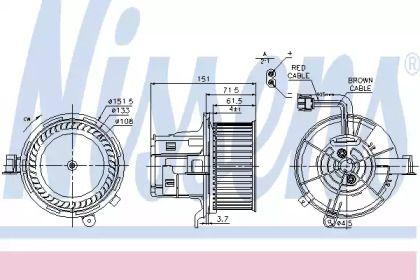 Вентилятор пічки на Mercedes-Benz GLK  NISSENS 87109.