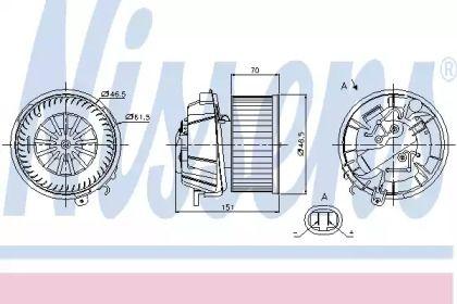 Вентилятор печки на Ситроен С3 'NISSENS 87127'.