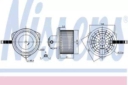 Вентилятор пічки на Мітсубісі АСХ 'NISSENS 87142'.