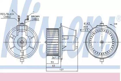 Вентилятор печки на Фольксваген Джетта NISSENS 87148.