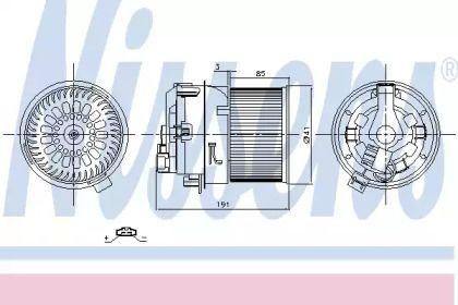 Вентилятор печки на CITROEN C3 'NISSENS 87258'.
