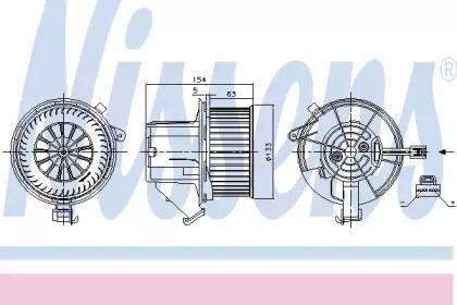 Вентилятор пічки на Мерседес ГЛК  NISSENS 87391.