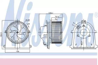 Вентилятор печки на SEAT LEON NISSENS 87437.