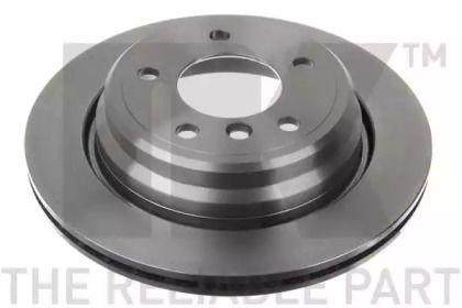 Вентилируемый тормозной диск на БМВ 5 'NK 201539'.
