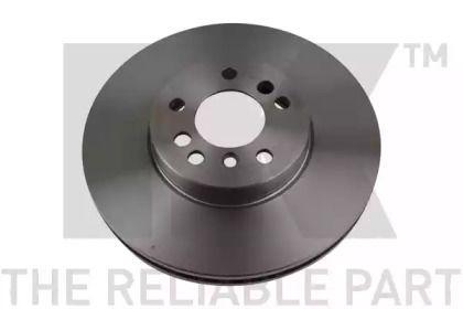 Вентилируемый тормозной диск на БМВ Х3 'NK 201547'.