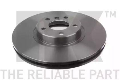 Вентилируемый тормозной диск на БМВ Х6 'NK 201587'.