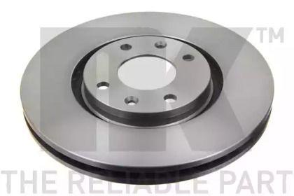 Вентилируемый тормозной диск на CITROEN DS4 'NK 201927'.