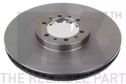 Вентилируемый тормозной диск на Митсубиси Л200 'NK 203044'.