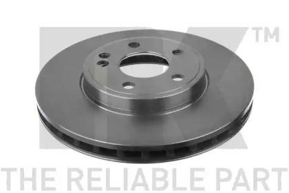 Вентилируемый тормозной диск на MERCEDES-BENZ GLA 'NK 2033112'.