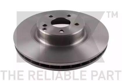 Вентилируемый тормозной диск на MERCEDES-BENZ GLK 'NK 203361'.