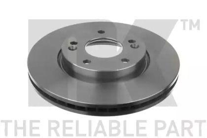 Вентилируемый тормозной диск на Киа Церато Куп 'NK 203526'.