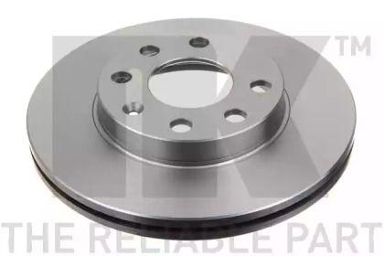 Вентилируемый тормозной диск на CHEVROLET AVEO 'NK 203608'.