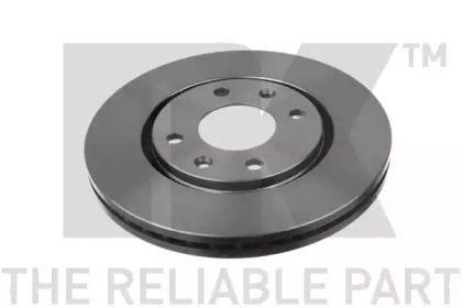 Вентилируемый тормозной диск на Пежо 406 'NK 203719'.