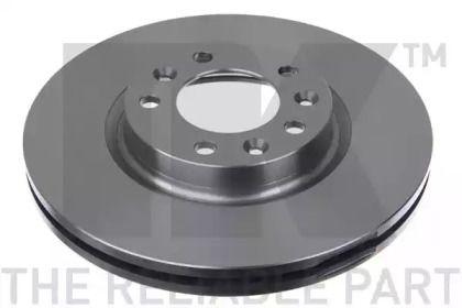Вентилируемый тормозной диск на Пежо 407 'NK 203741'.